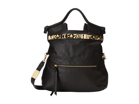 Foley & Corinna - Studded Mid City (Black) Shoulder Handbags