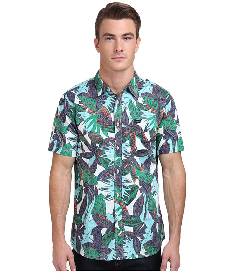 RVCA - Jungle Leaves Woven (Peacock) Men