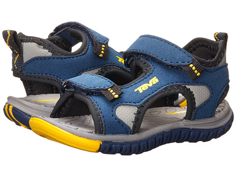 Teva Kids - Tanzium (Toddler) (Navy/Yellow) Boys Shoes