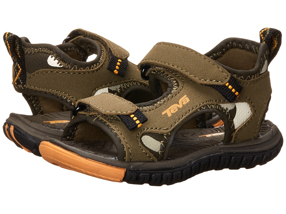 Teva Kids - Tanzium (Toddler) (Olive/Camo) Boys Shoes