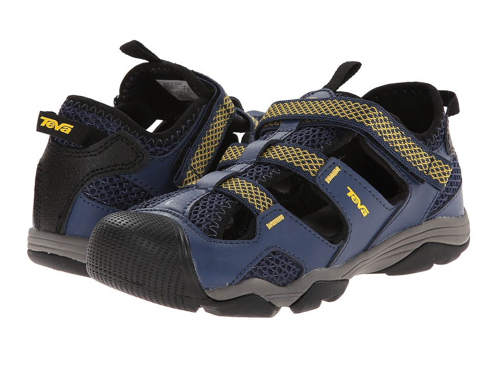Teva Kids - Jansen (Toddler/Little Kid/Big Kid) (Navy/Yellow) Boys Shoes
