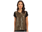 Stripe Sequin Tee