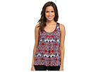 Scoop Neck Tank w/ Tribal Geo Motif
