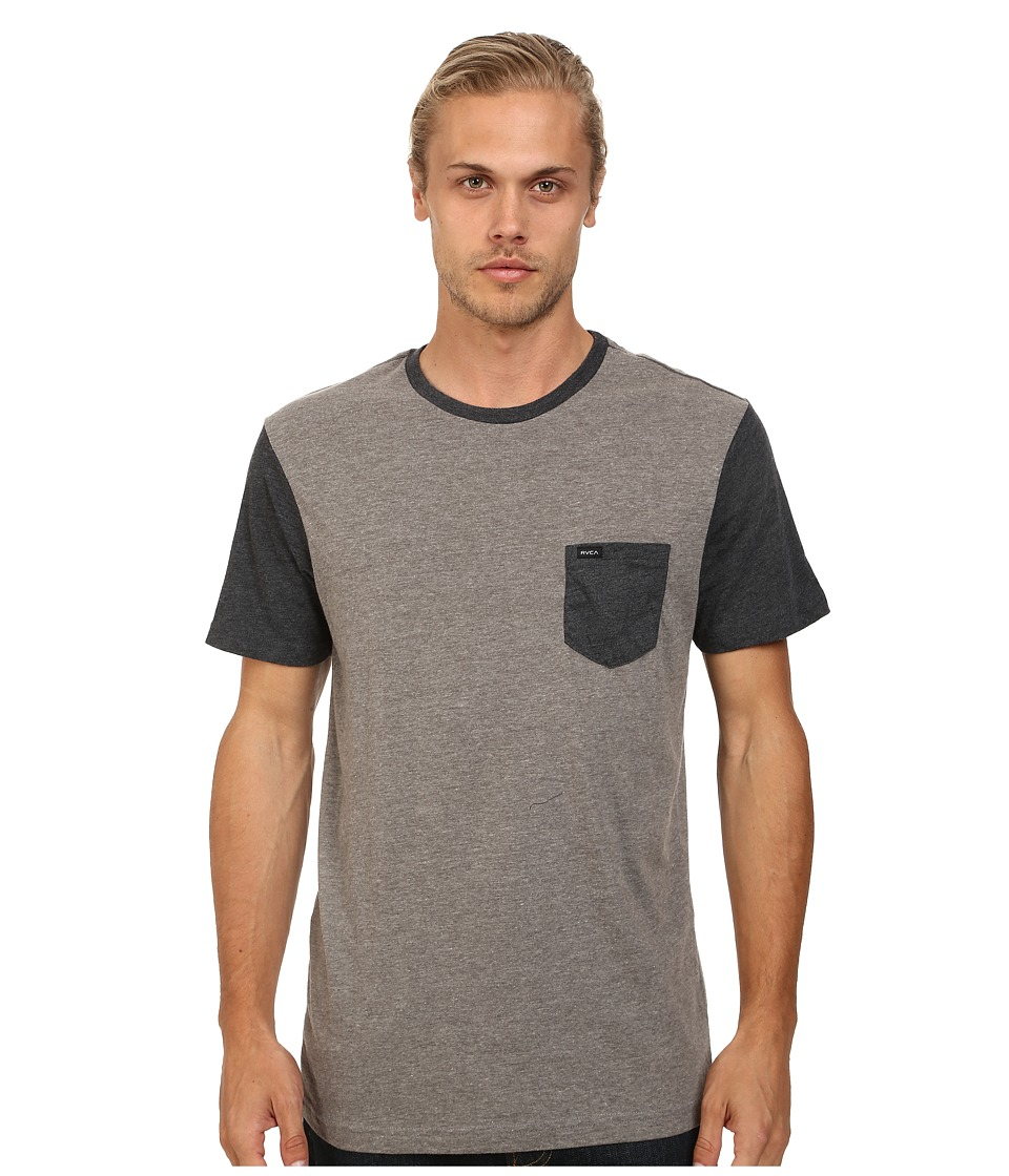 RVCA - Change Up Crew (Grey Noise) Men's Short Sleeve Pullover