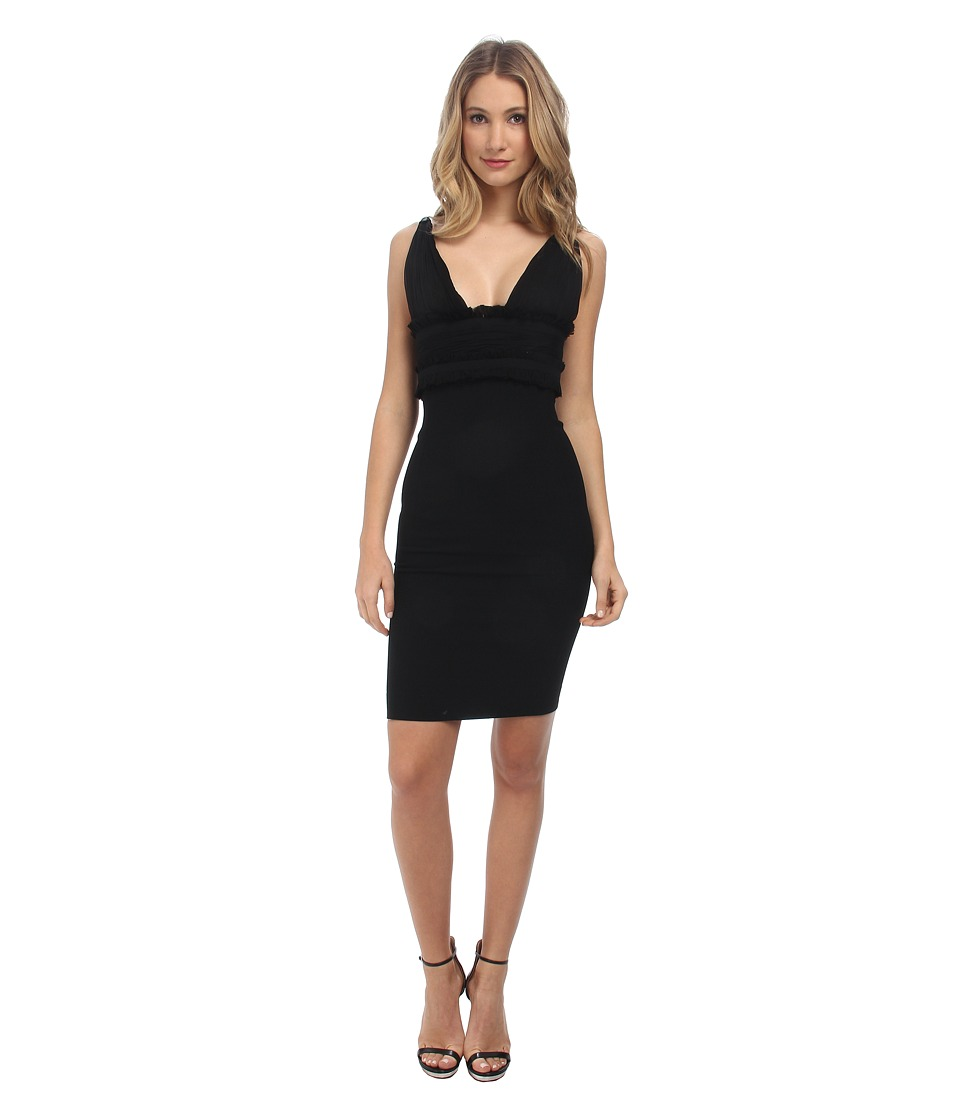 DSQUARED2 Banded V-Neck Dress (Black) Women