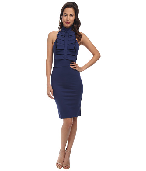 DSQUARED2 - Fitted Ruffle Dress (Blue) Women's Dress
