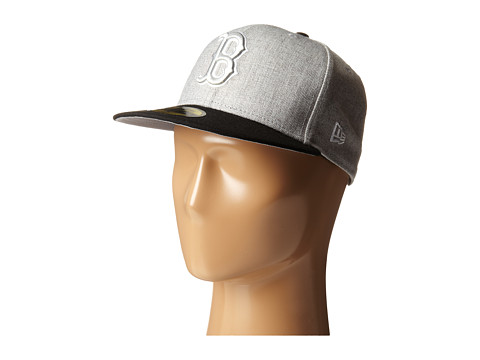 New Era - Heather Two-Tone Boston Red Sox (Light/Pastel Grey) Caps
