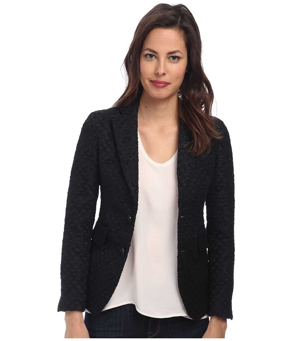 DSQUARED2 - Jaquard Pattern Blazer (Black) Women's Jacket
