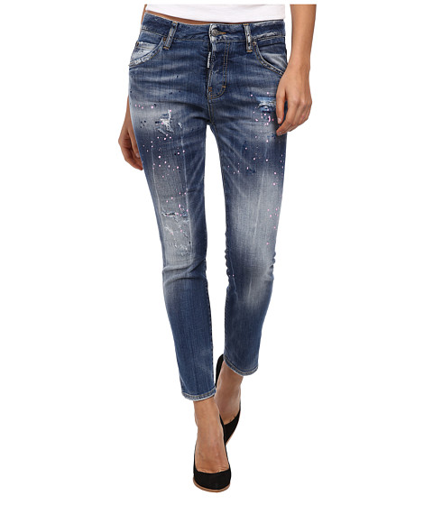 DSQUARED2 - Paint Splatter Jeans (Blue) Women's Jeans