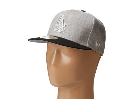 New Era - Heather Two-Tone Los Angeles Dodgers (Light/Pastel Grey) Caps