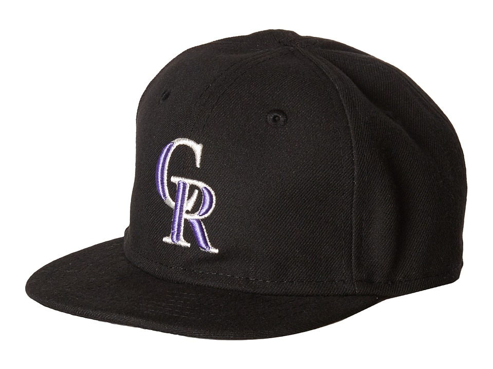 New Era - My First Authentic Collection Colorado Rockies Game Youth (Black) Caps