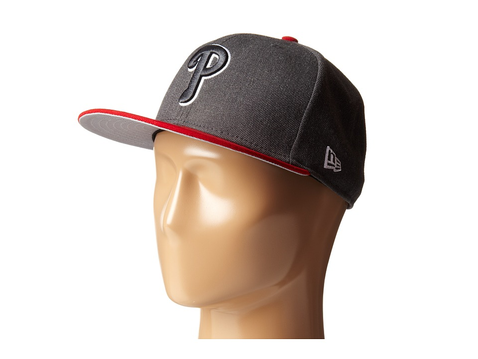 New Era - Heather Two-Tone Philadelphia Phillies (Charcoal) Caps