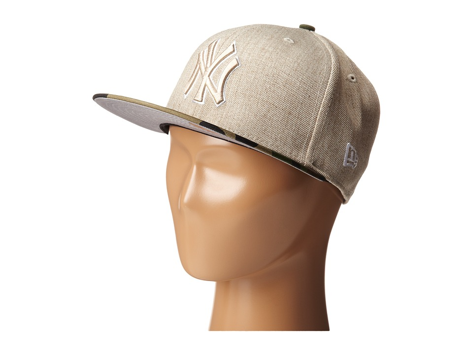 New Era - Heather Two-Tone New York Yankees (Light Beige) Caps