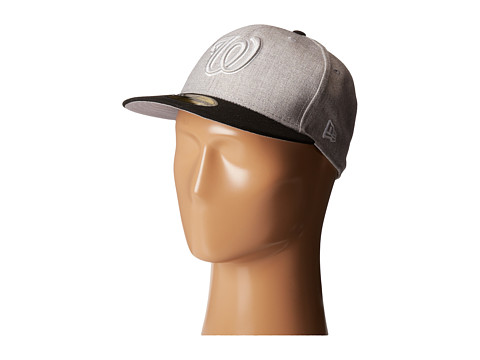 New Era - Heather Two-Tone Washington Nationals (Light/Pastel Grey) Caps