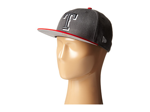 New Era - Heather Two-Tone Texas Rangers (Charcoal) Caps
