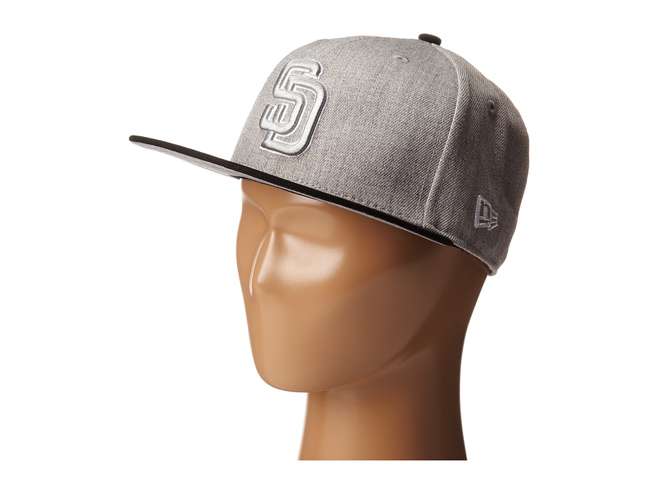 New Era - Heather Two-Tone San Diego Padres (Light/Pastel Grey) Caps