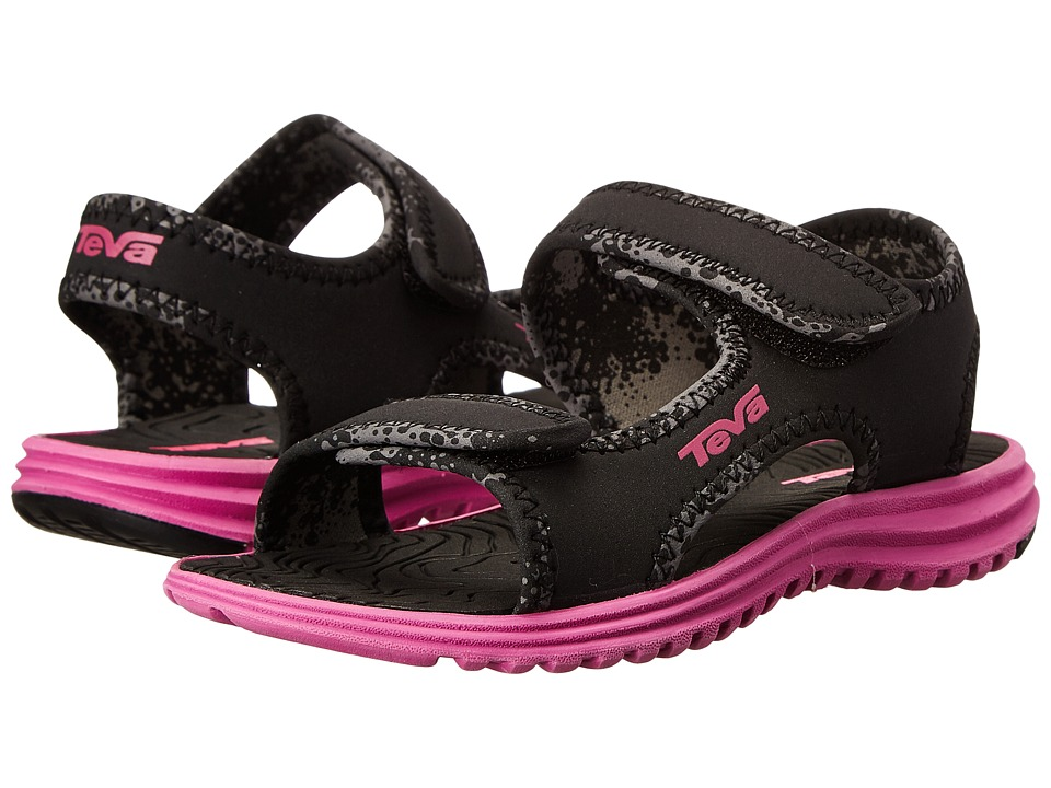 Teva Kids - Tidepool (Toddler/Little Kid/Big Kid) (Black/Pink) Girls Shoes