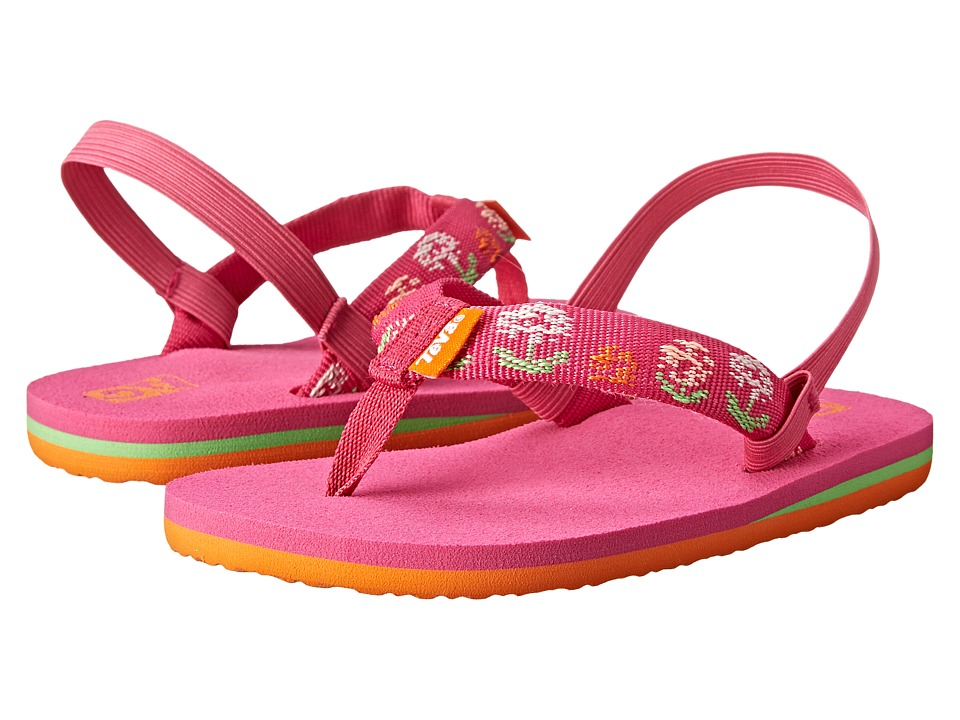 Teva Kids - Mush II (Toddler) (Dandelions Pink) Girls Shoes
