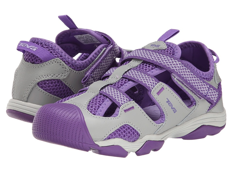 Teva Kids - Jansen (Toddler/Little Kid/Big Kid) (Grey/Purple) Girls Shoes