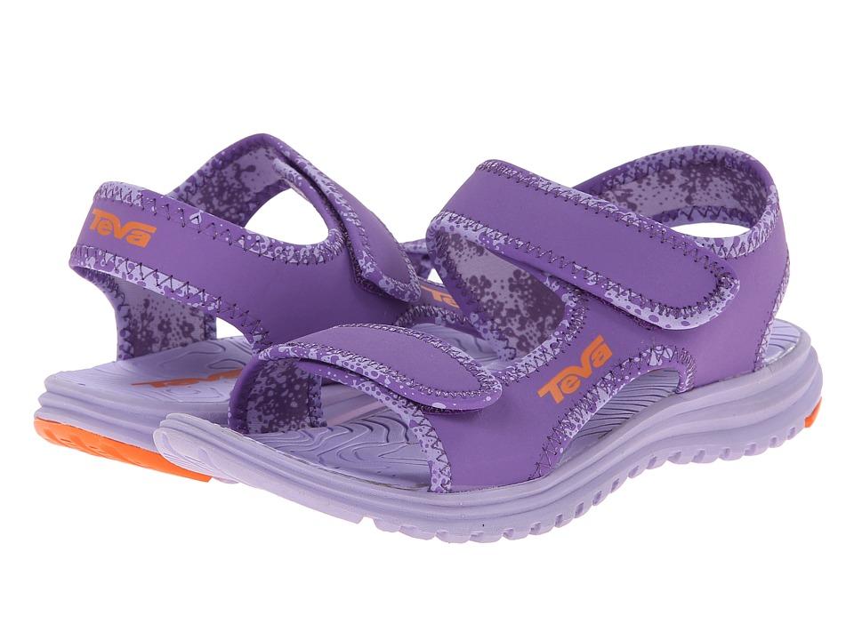 Teva Kids Tidepool (Toddler/Little Kid/Big Kid) (Purple/Orange) Girls Shoes