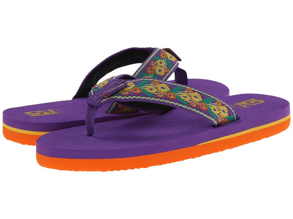 Teva Kids Mush II (Little Kid/Big Kid) (Floral Purple) Girls Shoes