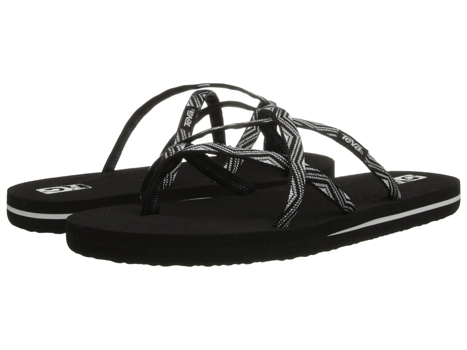 Teva Kids - Olowahu (Toddler/Little Kid/Big Kid) (Black/Silver) Girls Shoes