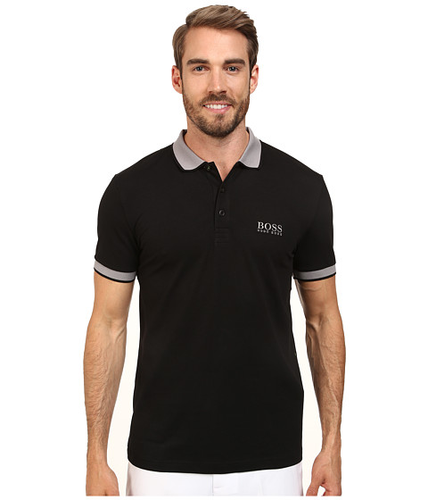 BOSS Green - Paule Pro 10143643 01 (Black) Men's Short Sleeve Knit