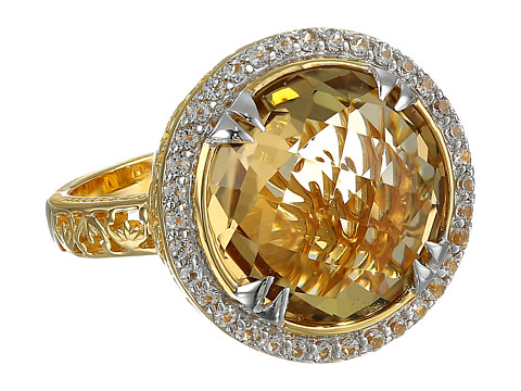 DeLatori - Pompeii Ring - 20-04-P422-12 (Champagne Quartz/White Topaz) Ring