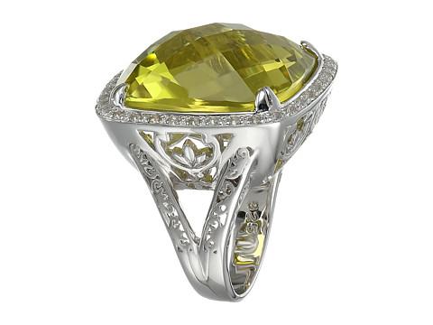 DeLatori - Pompeii Ring - 20-02-P424-02 (Lemon Quartz/White Topaz) Ring