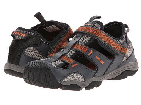 Teva Kids - Jansen (Toddler/Little Kid/Big Kid) (Dark Grey/Orange) Kids Shoes
