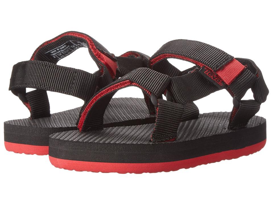 Teva Kids - Original Universal (Toddler/Little Kid) (Black/Red) Kids Shoes