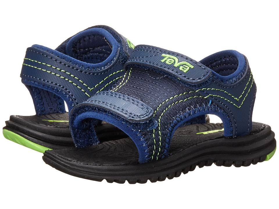 Teva Kids - Psyclone 5 (Toddler) (Navy/Green) Kids Shoes