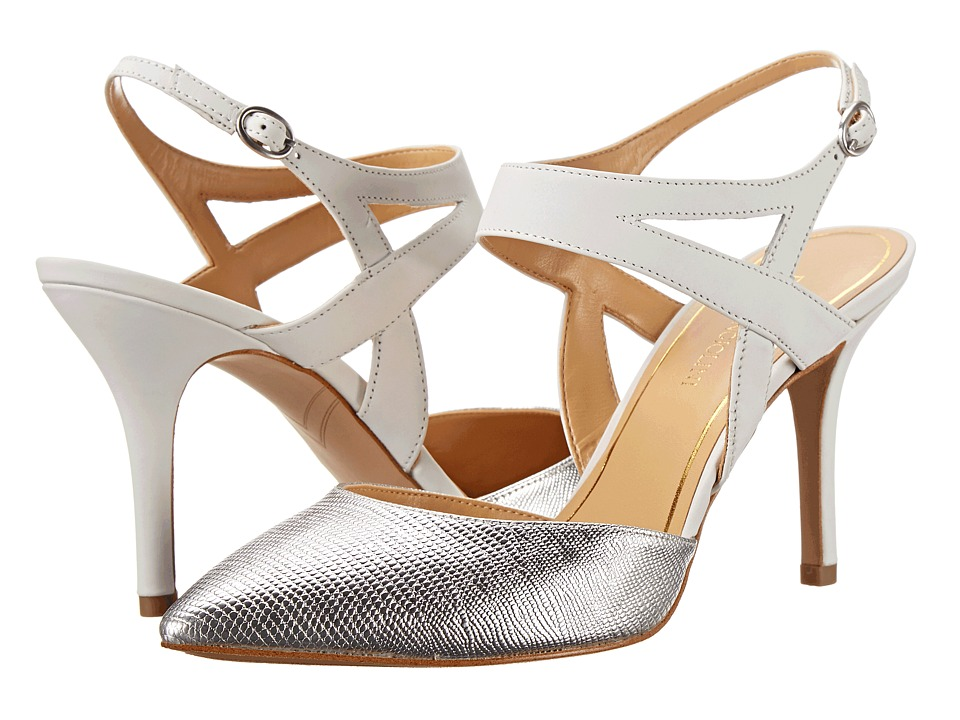 Enzo Angiolini Cuteshoo (Silver/White Synthetic) High Heels