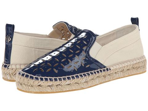 Oscar de la Renta - Vivienne Flat Espadrille (Indigo Patent Leather) Women