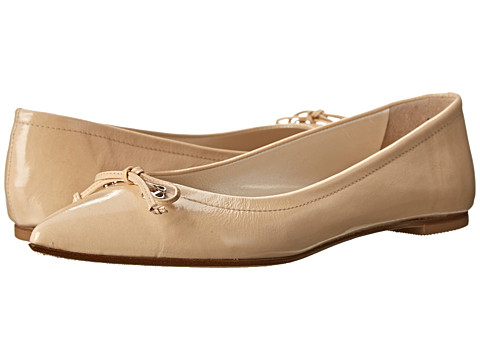 Oscar de la Renta - Aiden 10mm Ballet Flat (Nude Patent Leather) Women's Flat Shoes