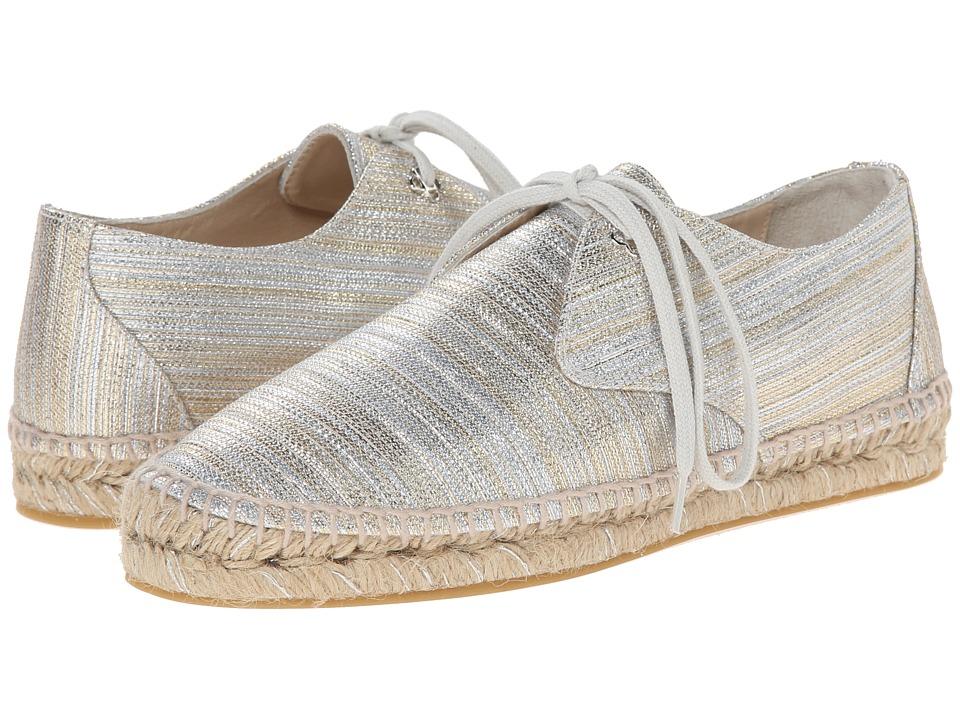 Oscar de la Renta - Verona Espadrille Sneaker (Silver/Gold Metallic Fabric) Women