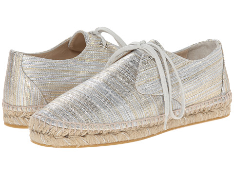 Oscar de la Renta - Verona Espadrille Sneaker (Silver/Gold Metallic Fabric) Women's Lace up casual Shoes