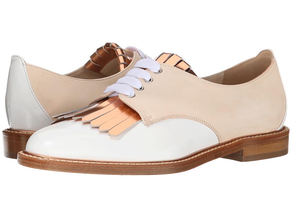 Oscar de la Renta - Adelaide 10mm Oxford (Nude Matte Patent) Women's Lace up casual Shoes
