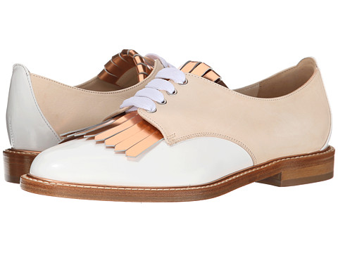 Oscar de la Renta - Adelaide 10mm Oxford (Nude Matte Patent) Women's Lace up casual Shoes