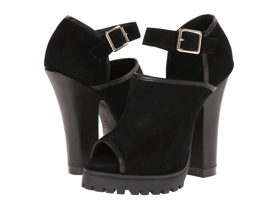 Shellys London - Acywen (Black Leather) High Heels