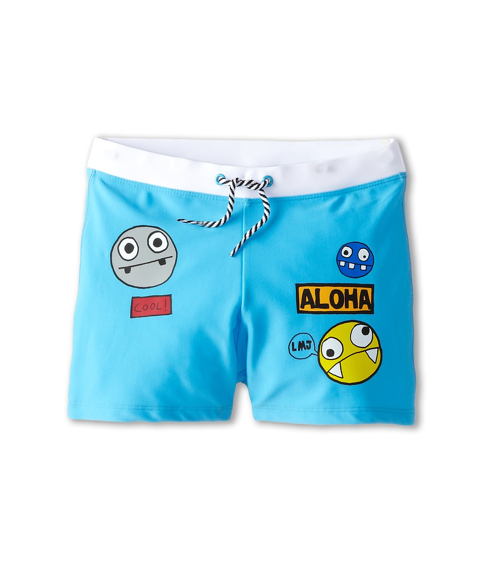 Little Marc Jacobs - Character Print Swim Trunks (Big Kids) (Iceberg) Boy's Swimwear