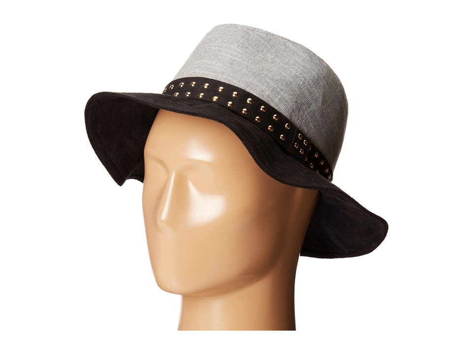 BCBGeneration - Pin Stud Panama (Black) Traditional Hats