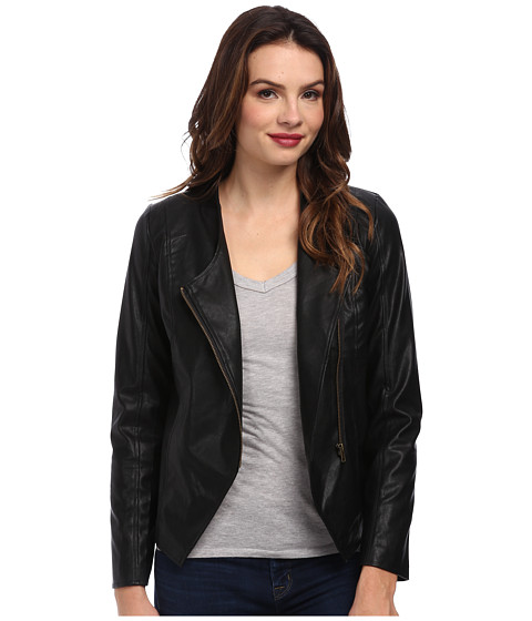 Jack by BB Dakota - Odette Lightweight PU Jacket (Black) Women's Coat