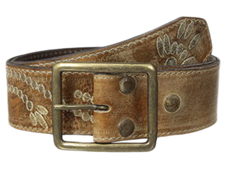Bed Stu - Mohawk (Tan Rustic White BFS) Women's Belts