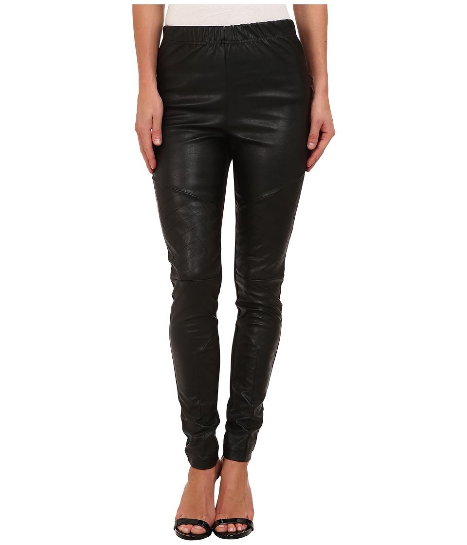 Jack by BB Dakota - Shaffer Ponte and PU Pant (Black) Women's Dress Pants plus size,  plus size fashion plus size appare