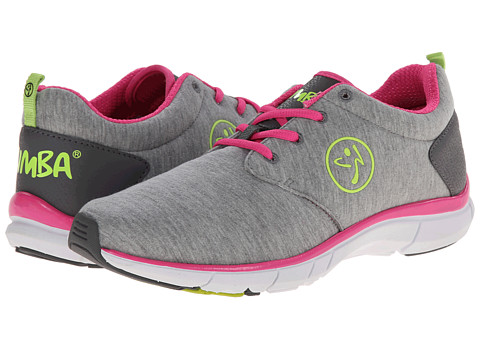Zumba - Zumba Fly Print (Steel Grey/Bright Pink) Women