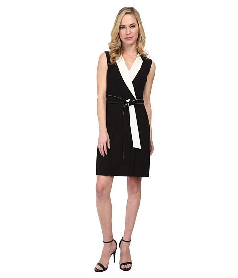 Tahari by ASL Petite - Petite Luca Dress (Black/White) Women