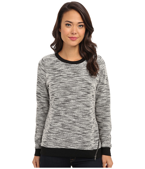 Jack by BB Dakota - Gianni Reverse French Terry Sweater (Black/White) Women