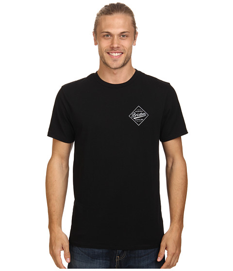 Brixton - Wesson S/S Premium Tee (Black) Men's T Shirt