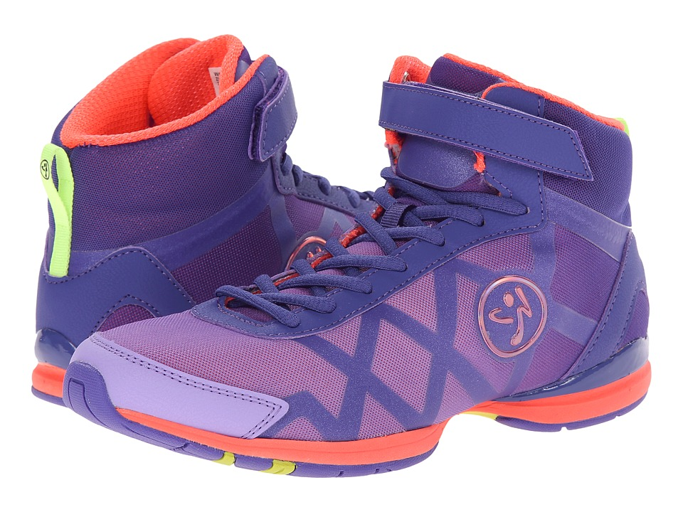 Zumba - Zumba Flex II Remix High (Purple/Neon Orange) Women's Shoes